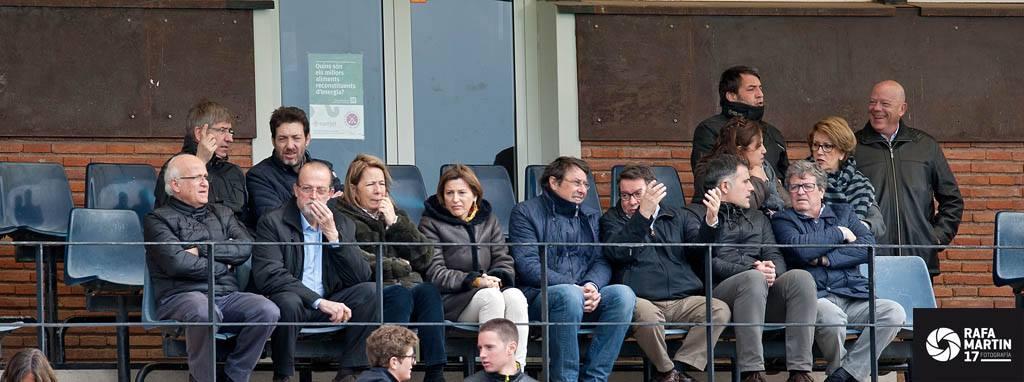 Visita de Carme Forcadell, presidenta del Parlament de Catalunya, al Club Egara